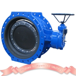 Resilient seated double eccentric butterfly valve