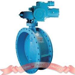 Electric double eccentric butterfly valve