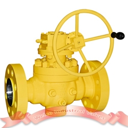 Flange top entry ball valve