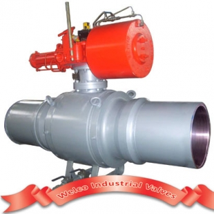 Fully welded ball valve for gas project