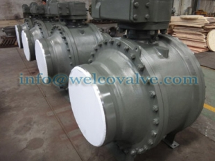 Ball valve, 3-pc side entry butt welded