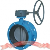 Concentric disk flange butterfly valve