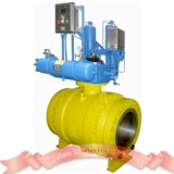 Gas over oil trunnion ball valve