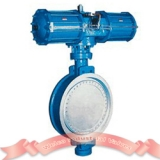 Pneumatic wafer butterfly valve