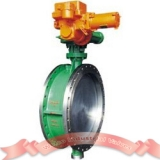 Triple offset butterfly valve with motor