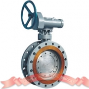 Metal seated triple offset butterfly valve