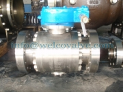 Ball valve, 3-pc body forged stainless steel F316