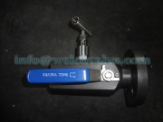Ball valve, SBB type, with needle valve