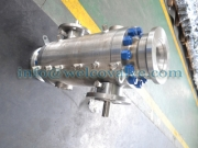 Ball valve, trunnion DBB two balls type